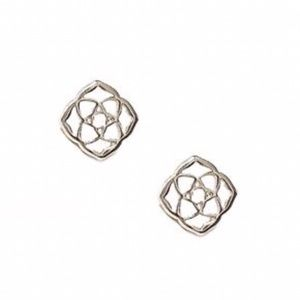 KENDRA SCOTT • Dira Logo Earrings • Silver